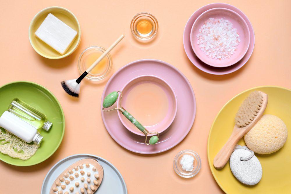 Wałek z jadeitu i kosmetyki